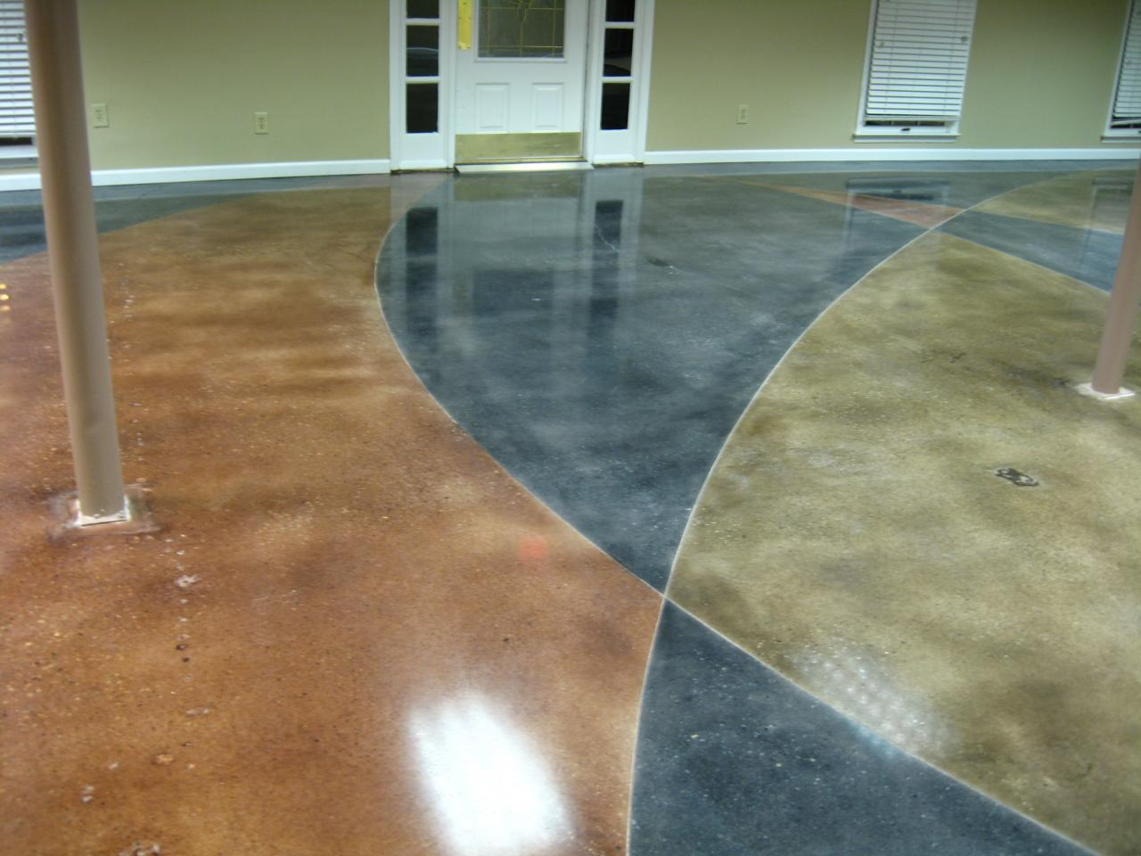 Dyed Concrete Flooring : Concrete polished floor dye